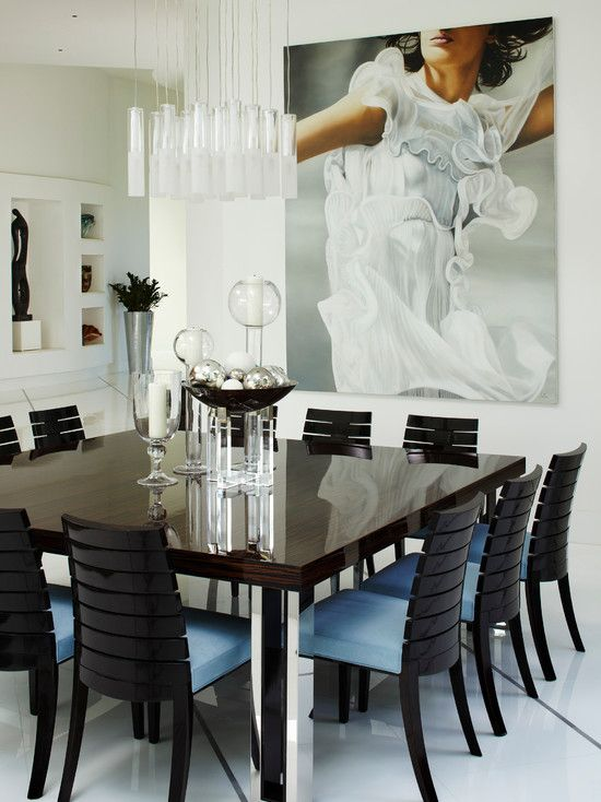 Excellent Modern Dining Room With Endearing 12 Seater