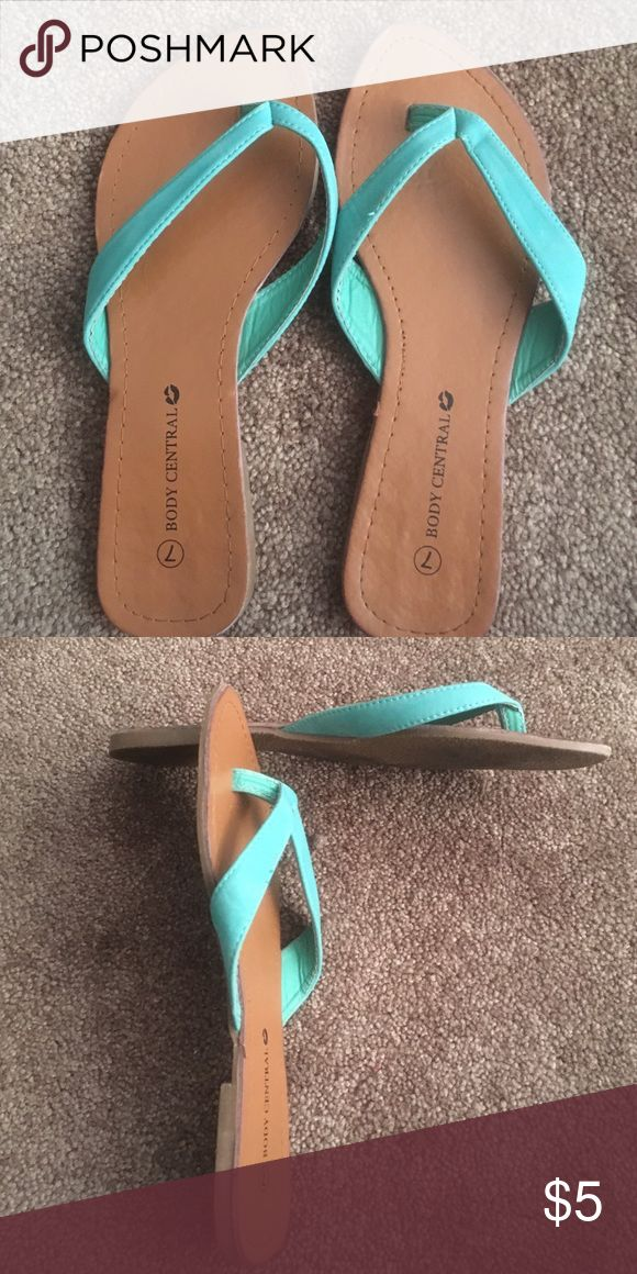 Body Central sandles Teal green cute sandles Body Central Shoes Flats & Loafers