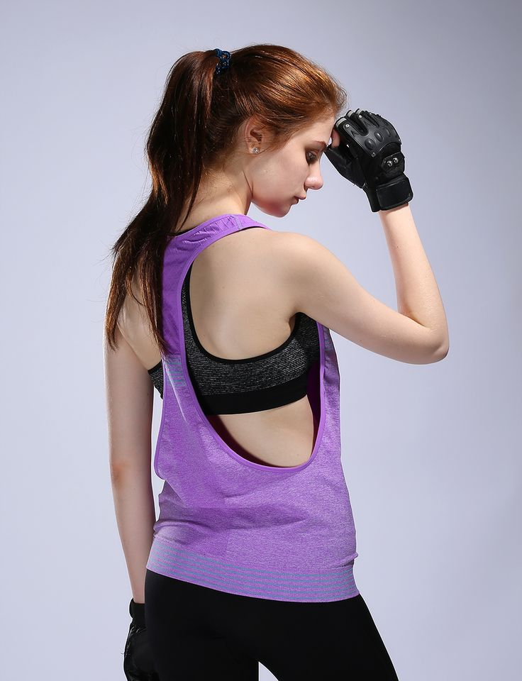 Sexy Backless Women's Fitness Yoga Top Shirt  Fitness Clothing Workout for Women Anti-Sweat Gym Running Shirts Sports Tank Vest