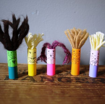 Marker Lid Finger Puppets from Captain Crafty