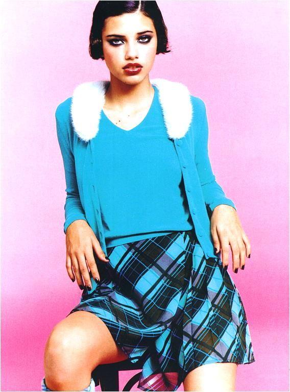 Campaign: Blumarine  Season: Fall 1997  Photographer: Ellen von Unwerth  Model(s): Adriama Lima