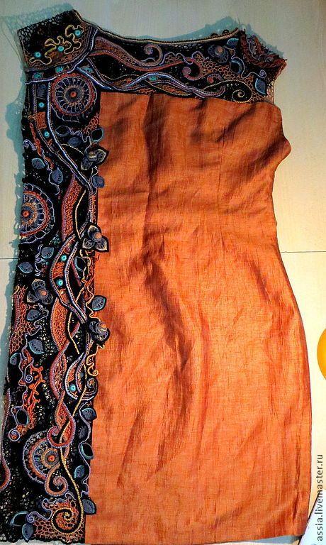 """Купить Платье """"Аида"""" - орнамент, кружево для отделки, ирландское кружево…"""