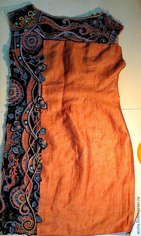 """Купить Платье """"Аида"""" - орнамент, кружево для отделки, ирландское кружево, комбинированное платье, Вязание крючком"""