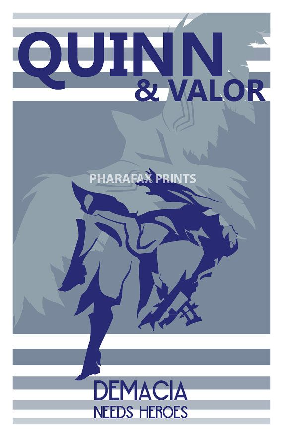 Quinn and Valor League of Legends of Print by pharafax on Etsy, $16.00