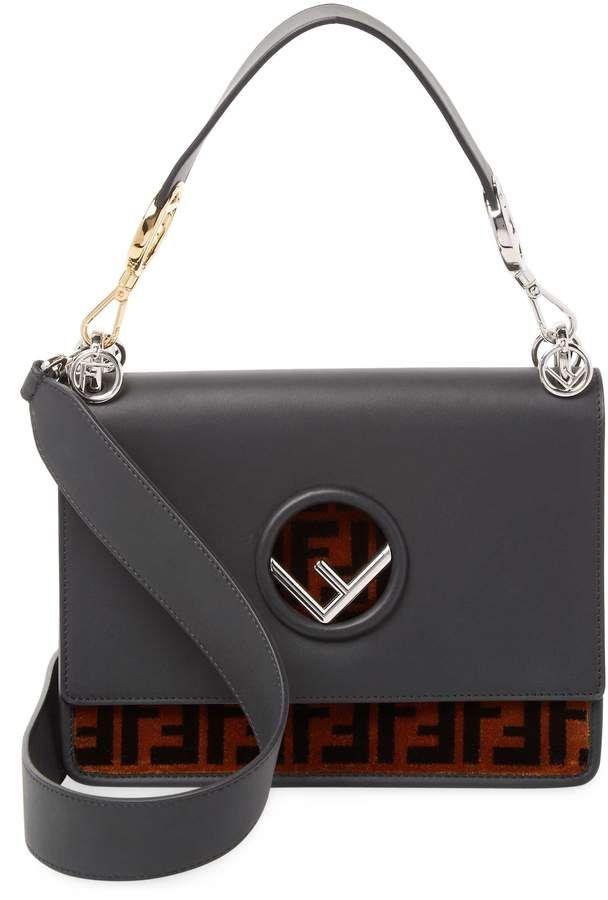 691fdc018730 Fendi Women s Kan I F Leather Bag