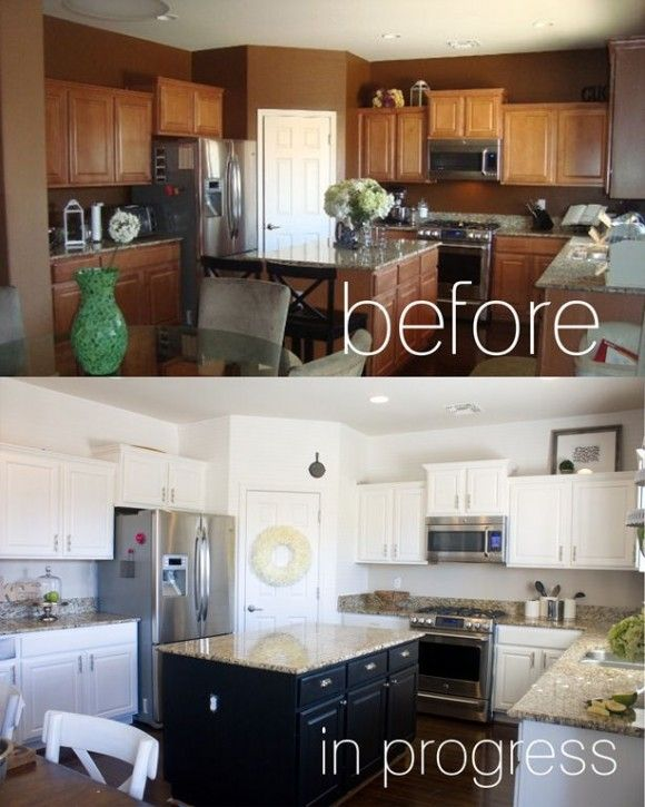 PAINTED KITCHEN CABINETS -  How to give your kitchen a facelift