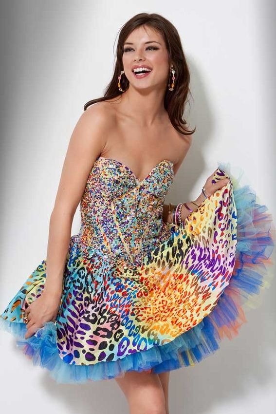 1000  ideas about Animal Print Party Dresses on Pinterest  Animal ...