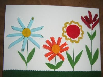 Color Pasta flowers for Spring theme