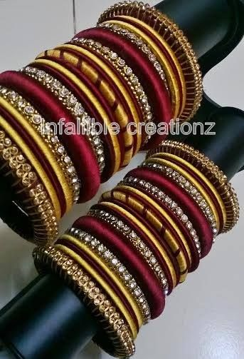 charming silk thread bridal bangles