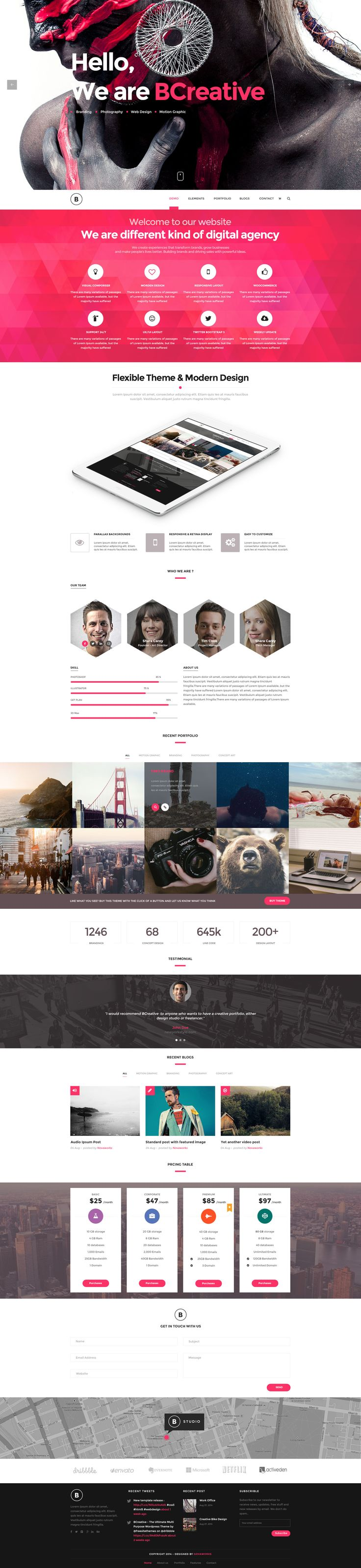 BCreative - Premium PSD Template #web #psd