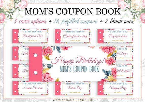 Mother S Day Gift Coupon Book For Mom Mom Coupons Mother S Day