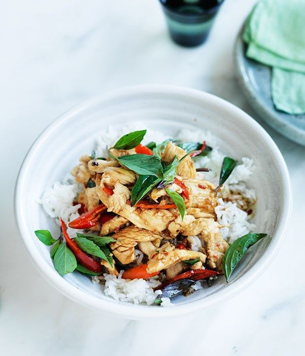 Chicken stir-fried with holy basil and chilli :: Gourmet Traveller