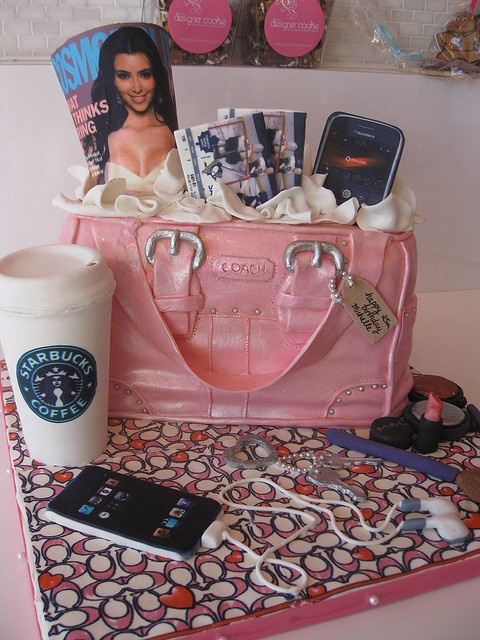 Coach purse cake - everything is edible! by The Designer Cookie, via Flickr