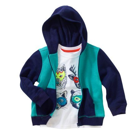 Healthtex Baby Toddler Boy Fleece Hoodie and Graphic T-Shirt 2pc Set, Size: 3 Years, Blue