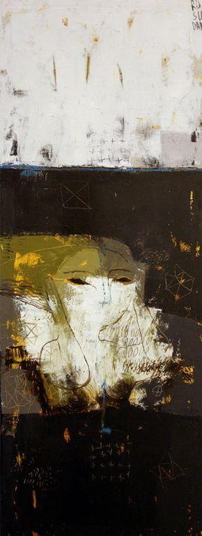 "Saatchi Art Artist: Rusudan Khizanishvili ; Acrylic 2013 Painting ""Dark River,Diving """