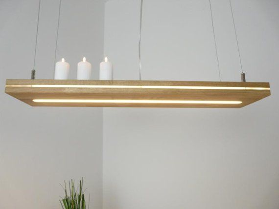 Hang Lamp Oak Oiled Shelf Lamp With Led Light 80 Cm In 2020 Led Leuchten Lampen Beleuchtung