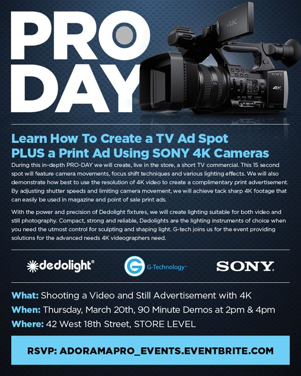 44 best adorama nyc images on pinterest new york city nyc and learn how to shoot a tv print ad in fandeluxe Choice Image