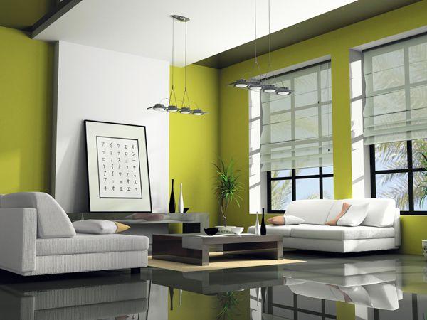 Verde: Il colore della natura, della riflessione, della calma, cosi come il blu è indicato per la zona notte. Dà benessere e tranquillità