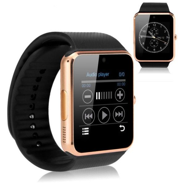 Women's Luxury GT08 Bluetooth Smart Watch for iOS & Android Devices –... ($25) ❤ liked on Polyvore featuring jewelry, watches, jewelry & watches, rose gold, women's watches, rose gold jewelry, rose gold watches, pink gold jewelry, red gold watches and red gold jewelry