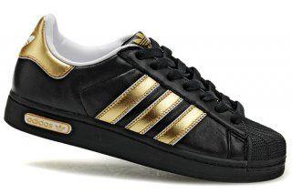 adidas originals superstar black and gold