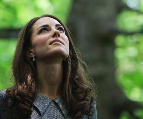 The Duchess of Cambridge looks up at a tree her mother-in-law Diana planted. 2 July 2011Duchess Of Cambridge, The Duchess, Princesses Diana, Diana Plants, Ceremonies Trees, Kate Middleton, Hall Trees, Kate Style, Canada Royal