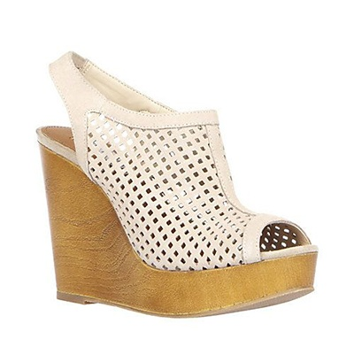 I love a wedge and this mesh one from Steve Madden is under 100 bucks.  My pinkie toe is always hanging out so I love this shoe!