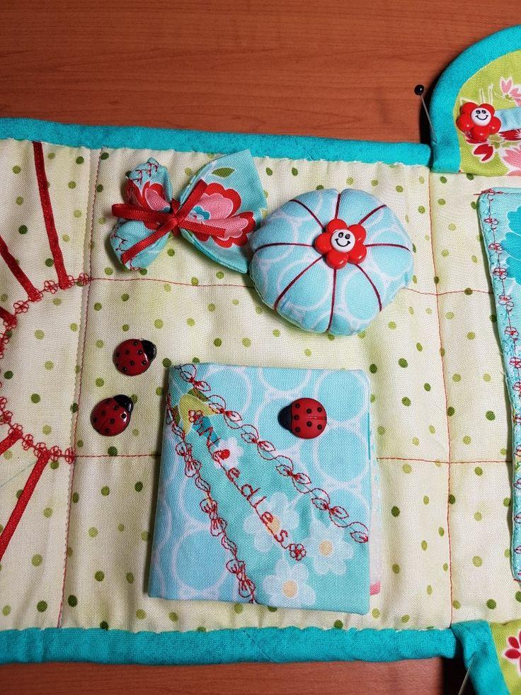 #sewingproject #sewingcompanion #machineembroidery Inside view #needlebook