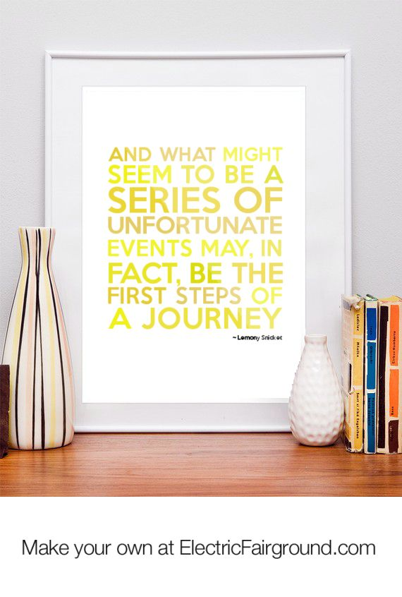 Lemony Snicket Framed Quote