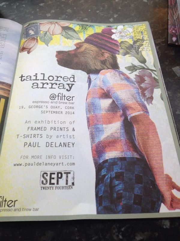 Ad in this month's INSERT TITLE magazine for my upcoming show, Tailored Array