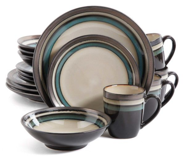 Find your Gibson Elite Lewisville Teal Dinnerware Set at Plum Street Pottery. Buy with confidence. We have everyday low prices and no hassle returns!