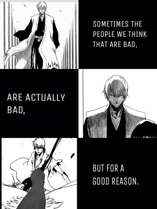 Gin!!!! I had a serious love-hate relationship with you until I found out why you did what you did then I just loved you to death and wailed uncontrollably! Awww Gin!:'( <3 Bleach