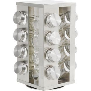 Buy HOME 16 Jar Stainless Steel Revolving Spice Rack at Argos.co.uk, visit Argos.co.uk to shop online for Spice racks and seasoning