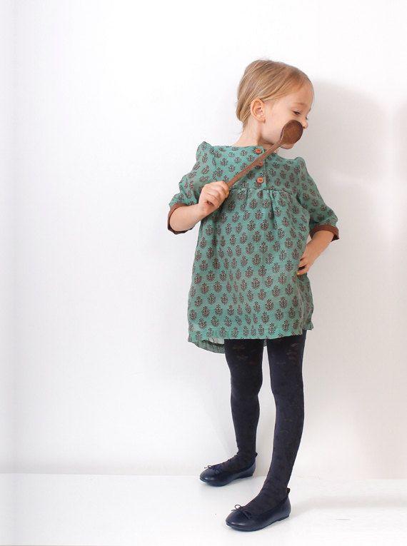 Boho toddler DRESS pattern - pdf tunic dress children sewing pattern - sizes 3T to 8 years