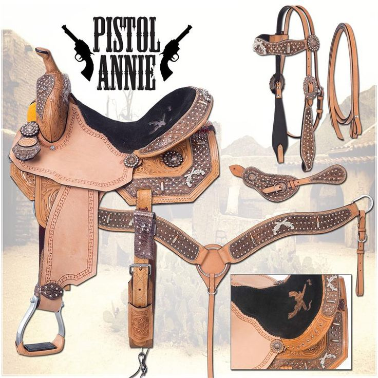 Silver Royal Pistol Annie Barrel Saddle Package at Cowgirl Blondie's Western Boutique