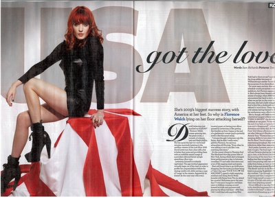 Zoe Turner AS Media.: Music magazine, double page spreads.
