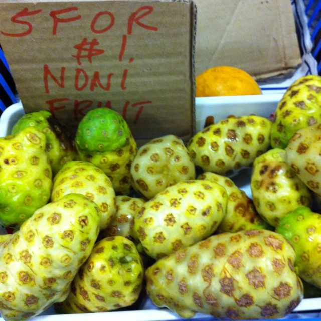 Yellow sapote  noni fruit @ my market place. Rusty's Cairns Australia