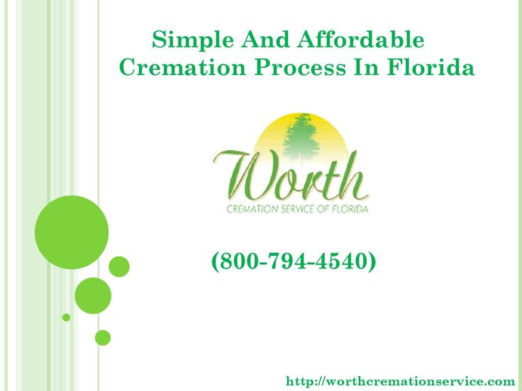 Simple and affordable cremation process in florida  If you want a simple and affordable cremation in Florida, then watch our slides and for more info visit at http://worthcremationservice.com