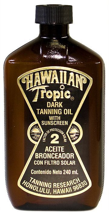 hawaiian tropic tanning oil. Love this stuff and the smell! Adding it to my summer beauty regime for those shiny shoulders I was seeking!