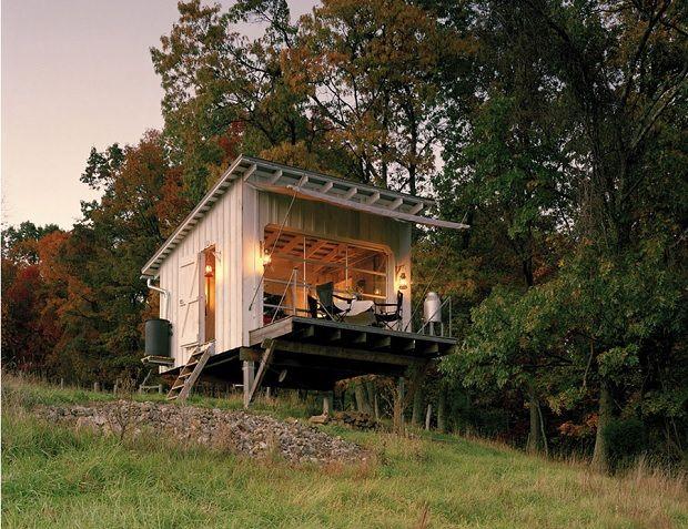 ほったて小屋でキャンプ