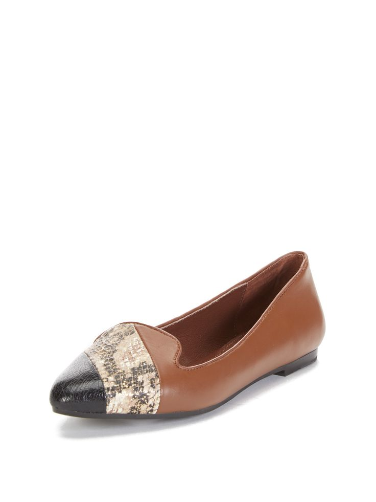 Nicole Two Tone Cap-Toe Loafer from Stylish Loafers Feat. Charles Philip  Shanghai on Gilt