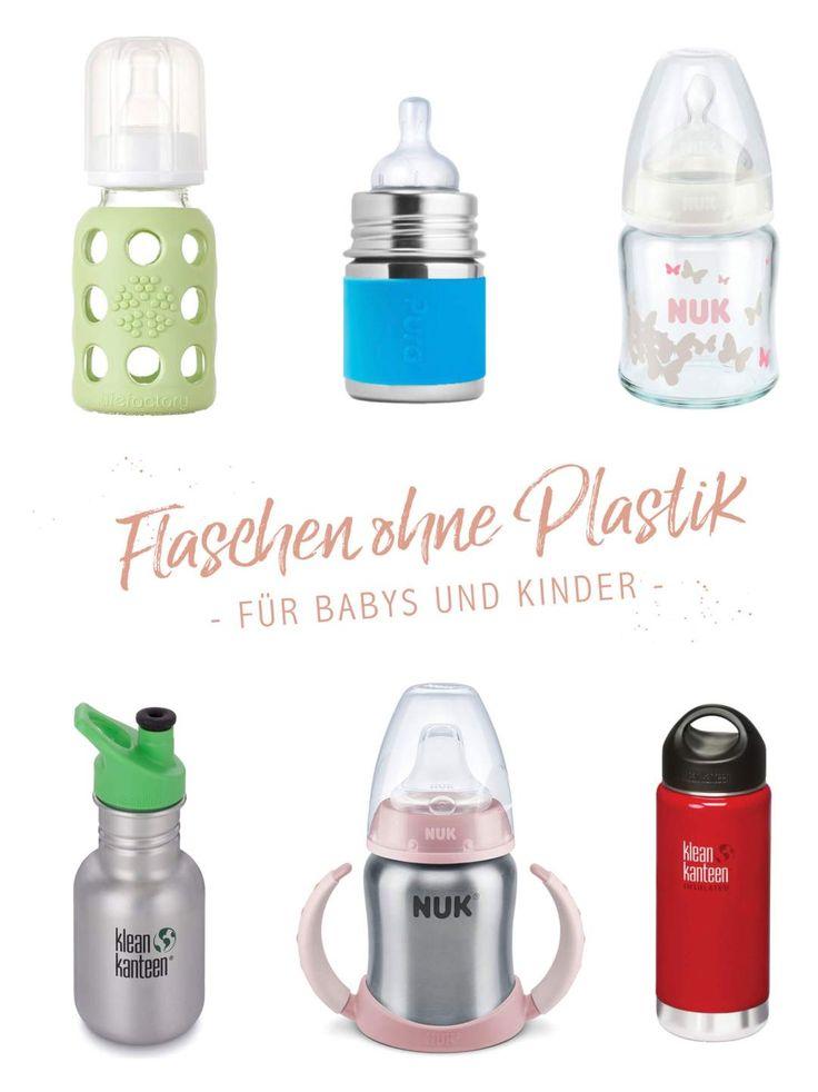 Trinkflaschen für Babys und Kinder ohne Plastik