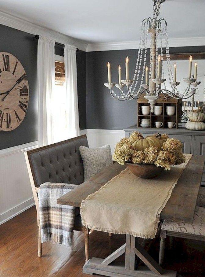 39 Rustic Glam Dining Room Makeover Ideas Farmhouse Dining Room