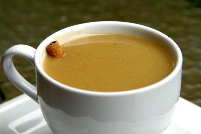 Colada de avena con naranjilla or Ecuadorian oatmeal drink.  Ohh, drink this one, you'll love it!