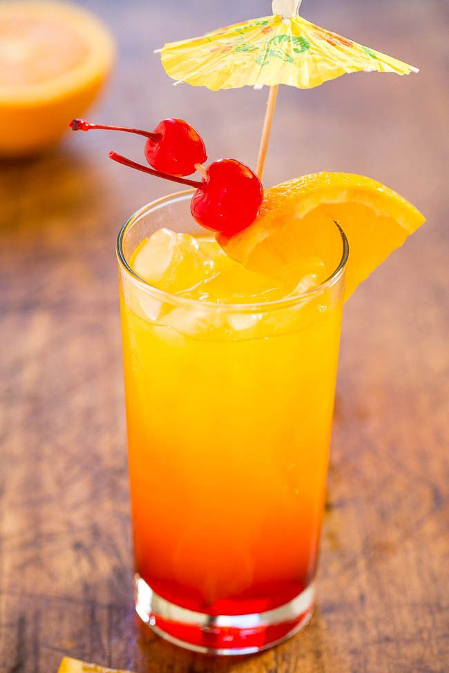 Tequila Sunrise Recipe Tequila Mixed Drinks Tequila
