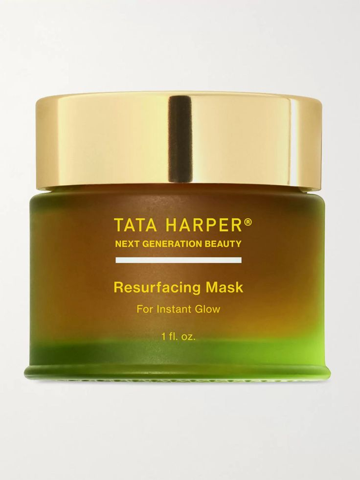Create a brighter, more youthful complexion with Tata Harper's best-selling 'Resurfacing Mask'. This concentrated formula is fortified with natural BHA from White Willow Bark and Pomegranate Enzymes to gently exfoliate, absorb oil and minimise the look of pores, while evening out skin tone. , Brightening mask for dull skin, Apply a thick layer over face and neck, leave on for 20 minutes and then rinse with warm water up to three times a week Tata Harper Resurfacing Mask, Combination Skin Care, Glow Mask, Uneven Skin, Dull Skin, Natural Cosmetics, Essential Oil Blends, Sephora