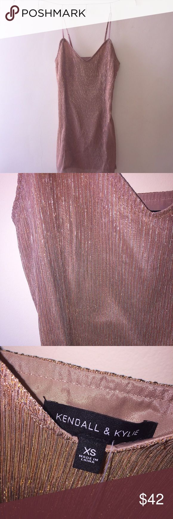 ✨ Kendall & Kylie Rose Gold Party Dress ✨ ❂ Kendall & Kylie dress purchased from PacSun   ❂ NWT - never worn!  ❂ Small pull on the side with the zipper (pictured)   ❂ Feel free to make an offer! ✨ Kendall & Kylie Dresses