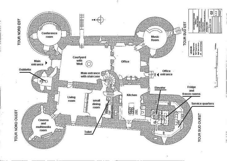 Ch teau de montbrun plan du rez du chauss e castles for Castle building plans