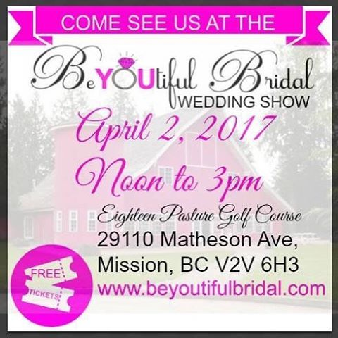 """48 Likes, 2 Comments - BeYOUtiful Bridal (@beyoutifulbridal) on Instagram: """"Count down till our Sunday's show in #missionbc show @beyoutifulbridal #weddingshow"""""""