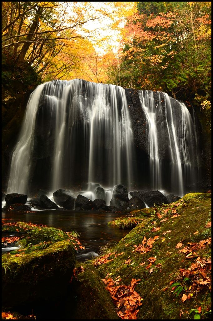 Tatsuzawa Fudo Falls, Fukushima, Japan 達沢不動滝