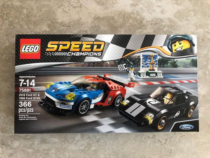 LEGO Speed Champions 2016 Ford GT & 1966 Ford GT40 2017 (75881) 366 Pieces